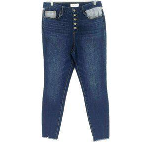Jessica Simpson Womens Sz 30 Blue High Rise Jeans